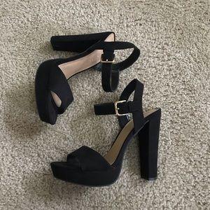 🌟NWT Lauren Conrad Black Chunky Heels